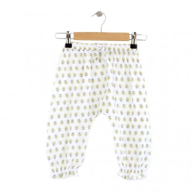 White_Yellow_Flower_Trousers_Front lala and zizo
